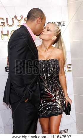LOS ANGELES, CALIFORNIA - June 2, 2012. Kendra Wilkinson and Hank Baskett at the Spike TV's 6th Annual