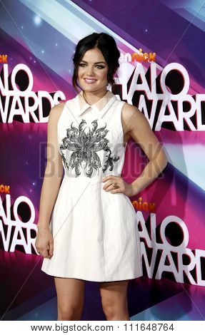 Lucy Hale at theTeenNick HALO Awards held at the Hollywood Palladium, Los Angeles, CA. 17th November 2012.