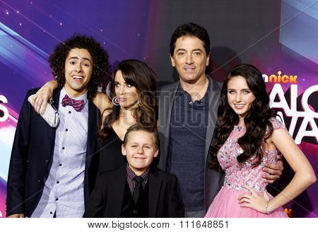 LOS ANGELES, CALIFORNIA - November 17, 2012. Ramy Youssef, Alanna Ubach, Scott Baio, Ryan Newman and Jackson Brundage at the 2012 Halo Awards held at the Hollywood Palladium in Los Angeles.