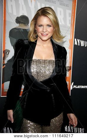 HOLLYWOOD, CALIFORNIA - January 5, 2012. Carrie Keagan at the Los Angeles premiere of
