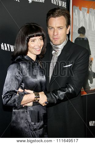 Ewan McGregor and wife Eve Mavrakis at the Los Angeles Premiere of