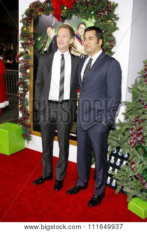 HOLLYWOOD, CALIFORNIA - November 2, 2011. Neil Patrick Harris and Kal Penn at the Los Angeles premiere of