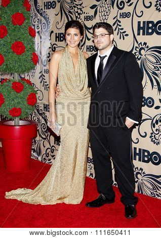 WEST HOLLYWOOD, CALIFORNIA - September 20, 2009. Jamie-Lynn Sigler and Jerry Ferrara at the HBO POST EMMY Party held at the Pacific Design Center, West Hollywood, Los Angeles.