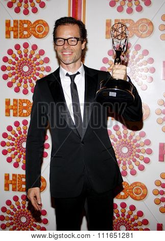 Guy Pearce at the HBO's 2011 Emmy After Party held at the Pacific Design Center in West Hollywood, California, United States on September 18, 2011.