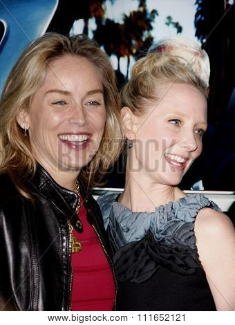 HOLLYWOOD, CALIFORNIA - March 22, 2011. Sharon Stone and Anne Heche at the Los Angeles premiere of