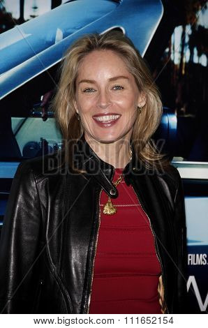 HOLLYWOOD, CALIFORNIA - March 22, 2011. Sharon Stone at the Los Angeles premiere of