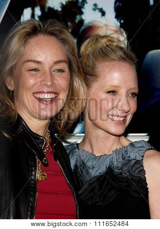 Sharon Stone and Anne Heche at the Los Angeles Premiere of