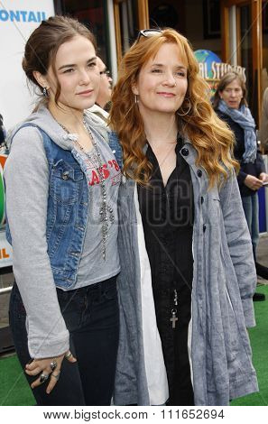 HOLLYWOOD, CALIFORNIA - March 27, 2011. Lea Thompson and Zoey Deutch at the Los Angeles premiere of