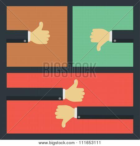 Like and dislike business concepts