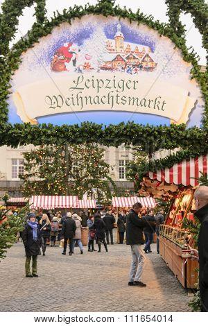 Entrance to Leipzig Christmas Market