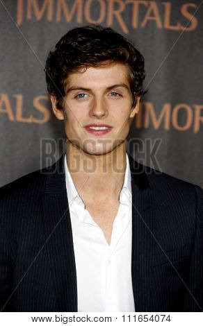 LOS ANGELES, CALIFORNIA - November 7, 2011. Daniel Sharman at the World premiere of