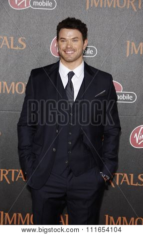 LOS ANGELES, CALIFORNIA - November 7, 2011. Kellan Lutz at the World premiere of