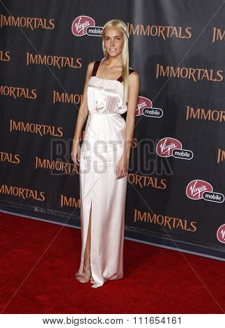 LOS ANGELES, CALIFORNIA - November 7, 2011. Isabel Lucas at the World premiere of