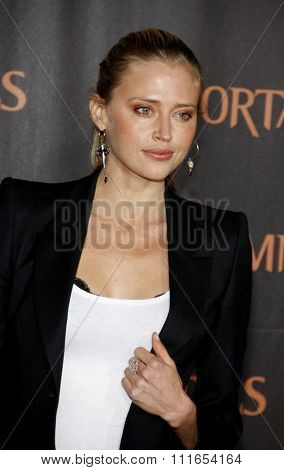 LOS ANGELES, CALIFORNIA - November 7, 2011. Estella Warren at the World premiere of