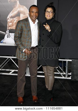 Sugar Ray Leonard at the Los Angeles premiere of 'Creed' held at the Regency Village Theatre in Westwood, USA on November 19, 2015.