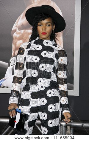 Janelle Monae at the Los Angeles premiere of 'Creed' held at the Regency Village Theatre in Westwood, USA on November 19, 2015.