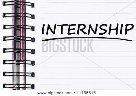Internship Words On Spring Note Book