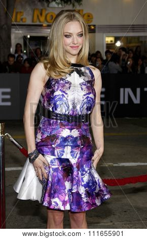 WESTWOOD, CALIFORNIA - October 20, 2011. Amanda Seyfried at the Los Angeles premiere of