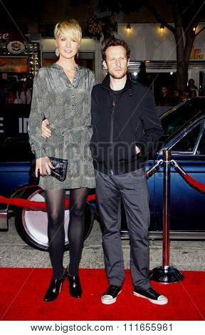 WESTWOOD, CALIFORNIA - October 20, 2011. Bodhi Elfman and Jenna Elfman at the Los Angeles premiere of