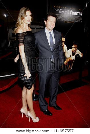 HOLLYWOOD, CALIFORNIA - December 6, 2010. Mark Wahlberg and Rhea Durham at the Los Angeles premiere of