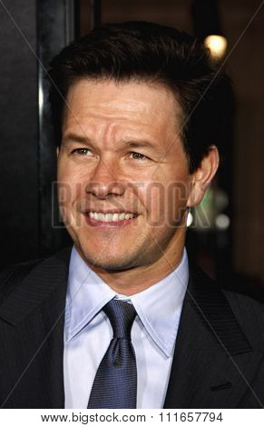 Mark Wahlberg at the Los Angeles Premiere of