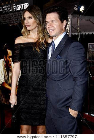 Mark Wahlberg and Rhea Durham at the Los Angeles Premiere of