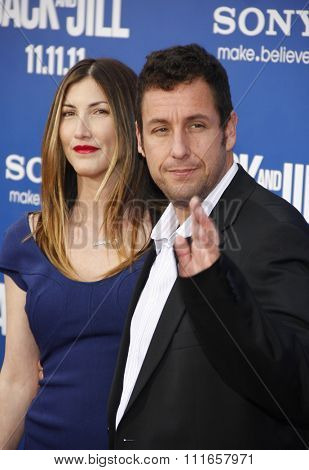 LOS ANGELES, USA - Adam Sandler and Jackie Sandler at the World Premiere Of