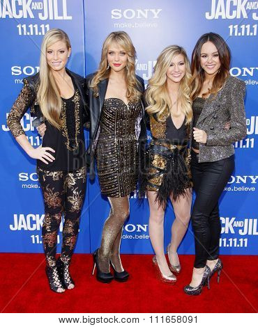 Cari Fletcher, Dani Knights, Paige Ogle and Hayley Orrantia of Lakoda Rayne at the World Premiere of