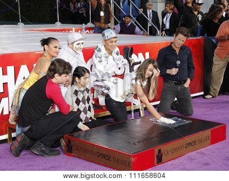 Prince Michael, Blanket and Paris Jackson at the Michael Jackson Hand And Footprint Ceremony held at the Grauman's Chinese Theatre in Los Angeles, California, United States on January 26, 2012.