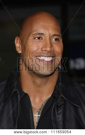 Dwayne Johnson at the Los Angeles Premiere of
