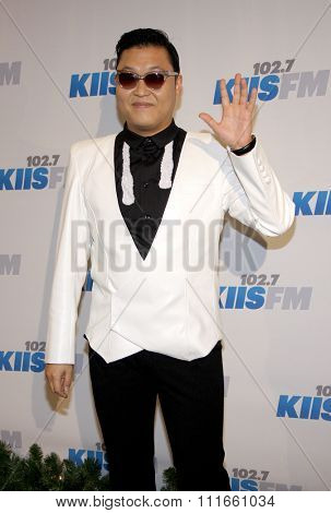 PSY at the KIIS FM's 2012 Jingle Ball held at the Nokia Theatre L.A. Live in Los Angeles, USA on December 3, 2012.
