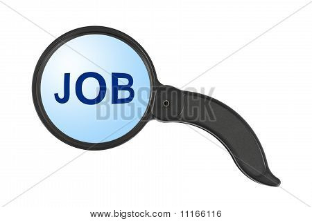 Magnifying Glass And Word Job