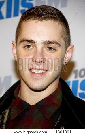 Sammy Adams at the KIIS FM's 2012 Jingle Ball held at the Nokia Theatre L.A. Live in Los Angeles, USA on December 3, 2012.