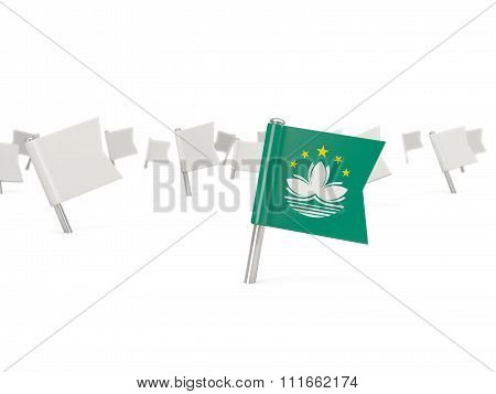 Square Pin With Flag Of Macao