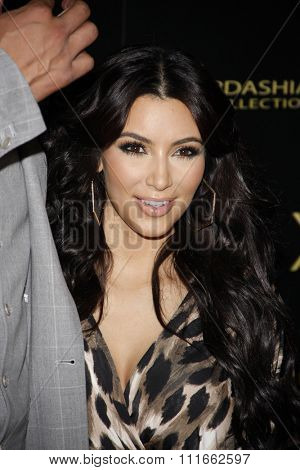 Kim Kardashian at the Kardashian Kollection Launch Party held at the Colony in Los Angeles, California, United States on August 17, 2011.