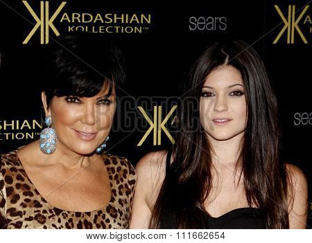 Kris Jenner and Kylie Jenner at the Kardashian Kollection Launch Party held at the Colony in Los Angeles, California, United States on August 17, 2011.