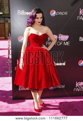 HOLLYWOOD, CA, USA - JUNE 26, 2012. Katy Perry at the Los Angeles premiere of