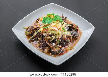 Som Tam (spicy Papaya Salad) With Salted Crab