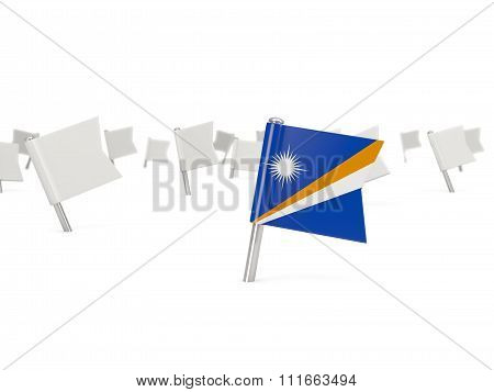Square Pin With Flag Of Marshall Islands