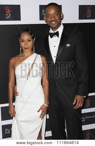 Will Smith and Jada Pinkett Smith at the 2nd Annual Diamond Ball held at the Barker Hanger in Santa Monica, USA on December 10, 2015.