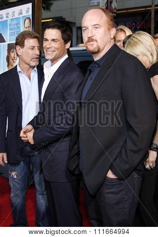 Louis C.K. and Rob Lowe at the Los Angeles Premiere of