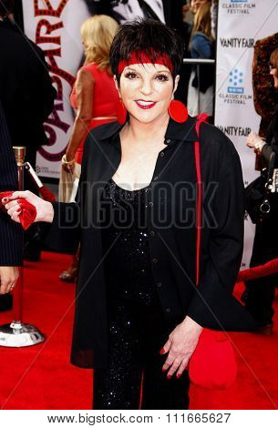 Liza Minnelli at the 2012 TCM Classic Film Festival Opening Night Gala held at the Grauman's Chinese Theater, California, United States on April 12, 2012.