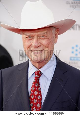 Larry Hagman at the 2012 TCM Classic Film Festival Opening Night Gala held at the Grauman's Chinese Theater, California, United States on April 12, 2012.