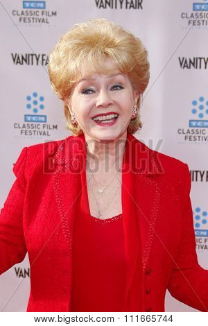 Debbie Reynolds at the 2012 TCM Classic Film Festival Opening Night Gala held at the Grauman's Chinese Theater, California, United States on April 12, 2012.