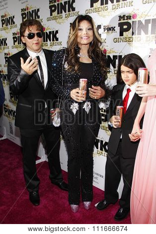 October 11, 2012. Prince Michael Jackson, La Toya Jackson and Blanket Jackson at the Mr. Pink Ginseng Drink Launch Party held at the Regent Beverly Wilshire Hotel, Los Angeles.
