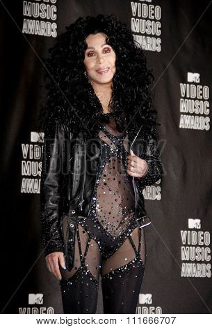 Cher at the 2010 MTV Video Music Awards held at the Nokia Theatre L.A. Live in Los Angeles, USA on September 12, 2010.