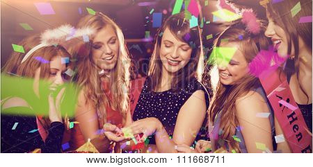 Flying colours against pretty friends on a hen night