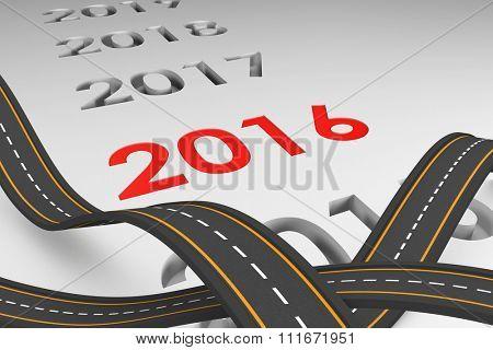 Bumpy road against grey vignette