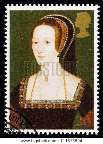 Britain Anne Boleyn Postage Stamp