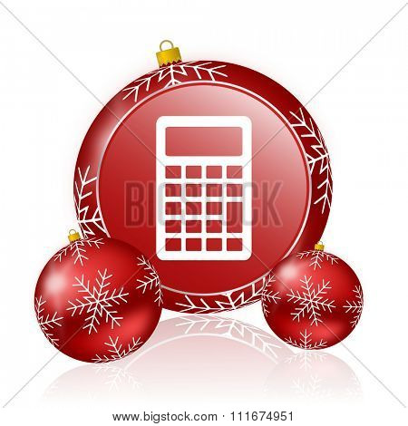 calculator christmas icon
